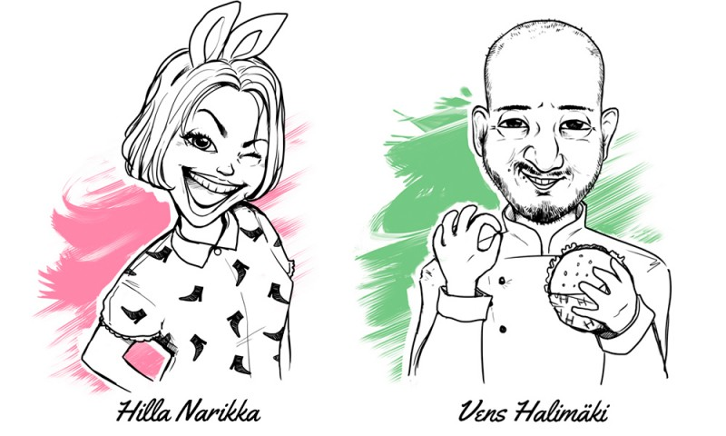 Caricature illustrations