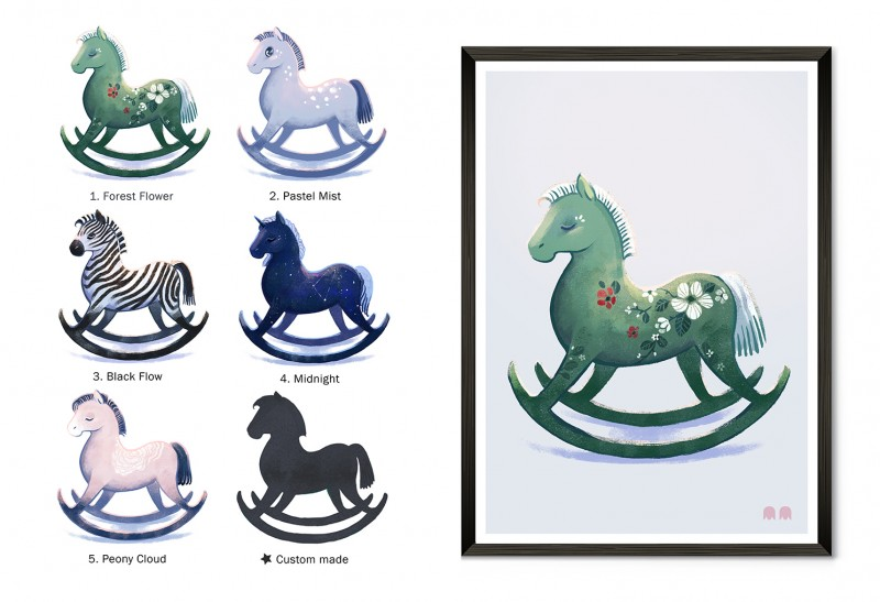 Keinuhevoseni / My Rocking Horse -Art Prints